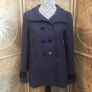 NWT H&M Navy Button Down Peacoat Size 10